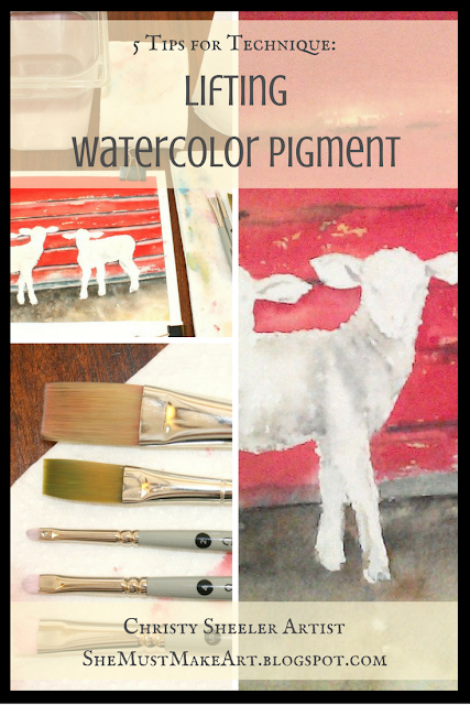 Lifting watercolor pigment, 5 tips for this technique
