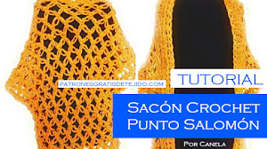 Aprende a Tejer Sacón Muy Fácil a Crochet