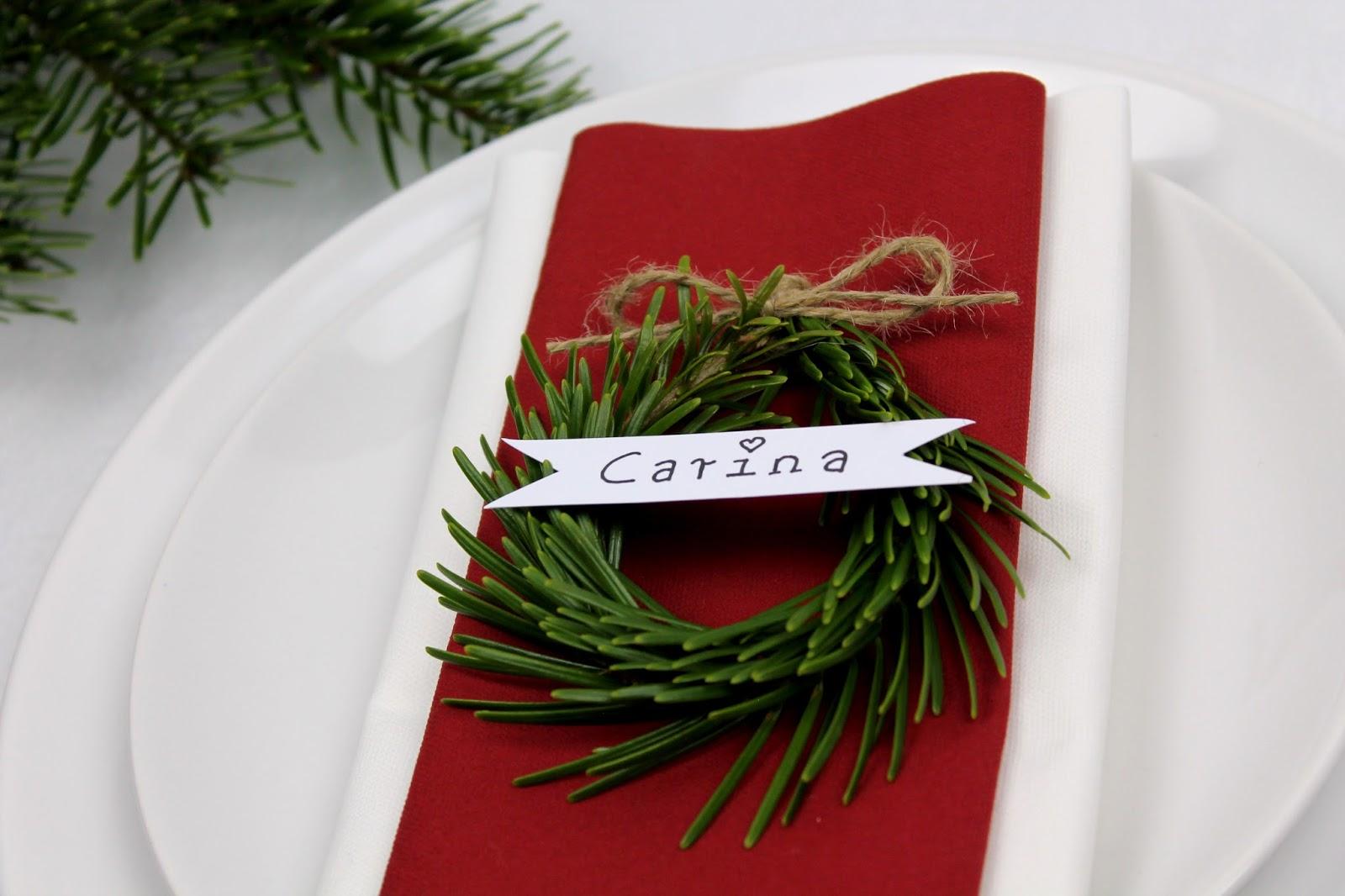DIY, Basteln: weihnachtliche Tischdekoration mit Tannenzweigen und dem Schneider Base Rosé, Dekoration, Weihnachtsdekoration und Tischdekoration - DIYCarinchen