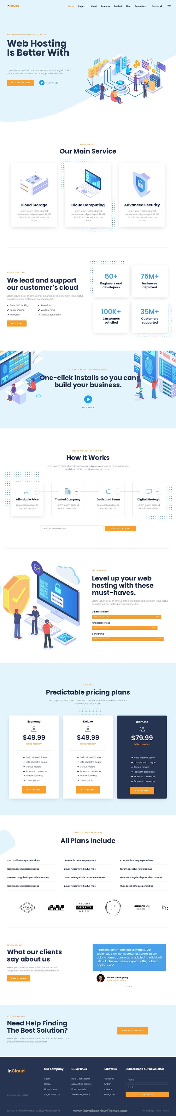 Web Hosting Elementor Template Kit