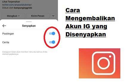 Cara Mengembalikan Akun Yang Disenyapkan di Instagram