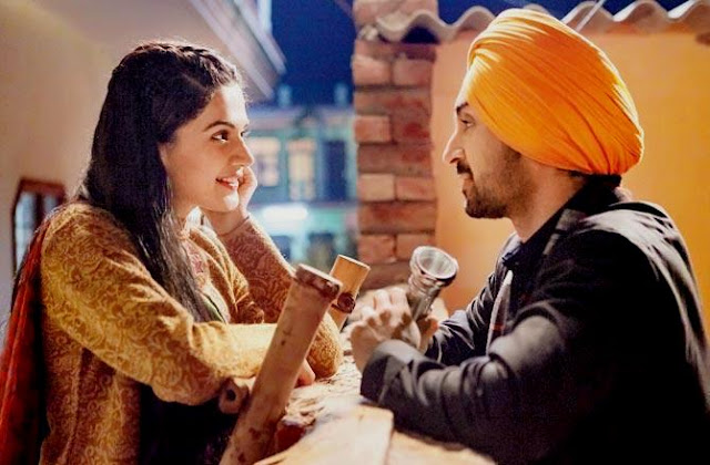 Diljit Dosanj as Sandeep Kumar in Soorma, with Taapsee Pannu, lovers