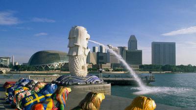 Patung+Merlion+dan+Esplanade