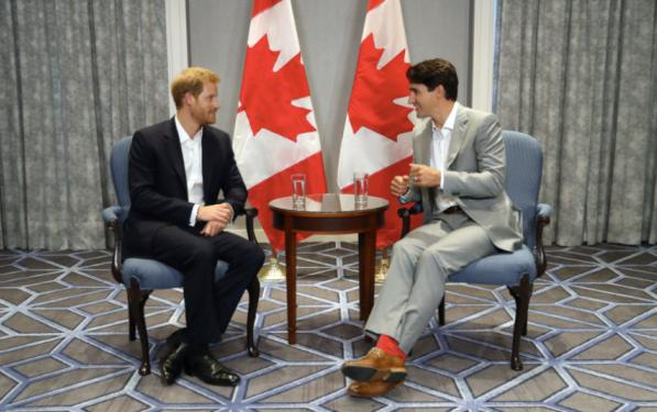 Prince Harry and Canadian Prime Minister Justin Trudeau hold bilateral talks in Toronto