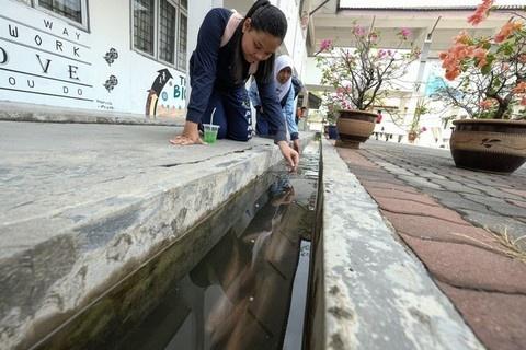 Selokan di SMK Ini Ada Ikannya Mirip di Jepang, Ternyata Idenya Terinspirasi dari Indonesia lho!