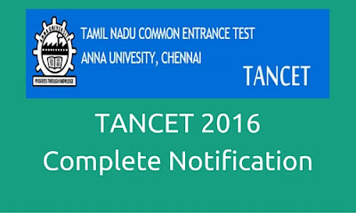 Register TANCET 2016 though Online