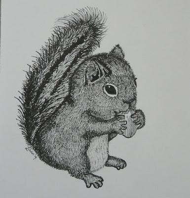 eekhoorn baby inkt