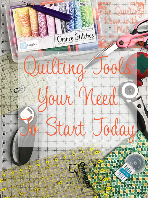 Find out what tools you must have to get started making quilts today.