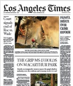 Los Angeles Times Magazine 3 September 2021
