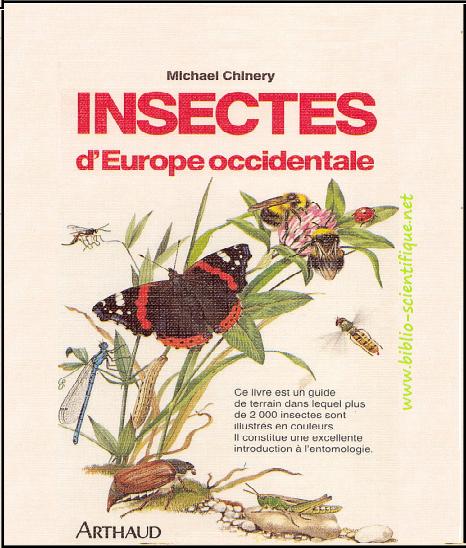 Livre : Insectes de France et d'Europe occidentale - Michael Chinery