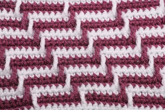 4 -Crochet Imagen Varioación de punto apache por Majovel Crochet