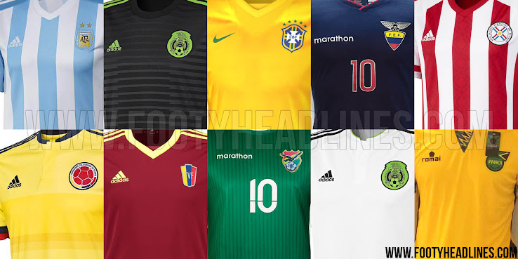 0916294d3 Adidas makes the Copa America 2015 Jerseys for five 2015 Copa America  National Teams