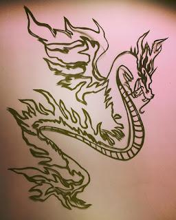 龍の切り絵