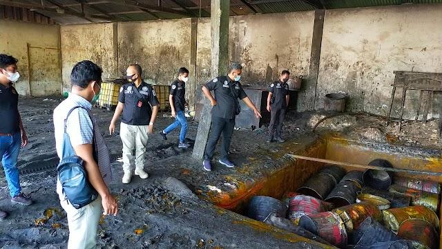 Tindaklanjuti Berita Miring, Satreskrim Polres Batu Bara Cek dan Periksa Gudang CPO