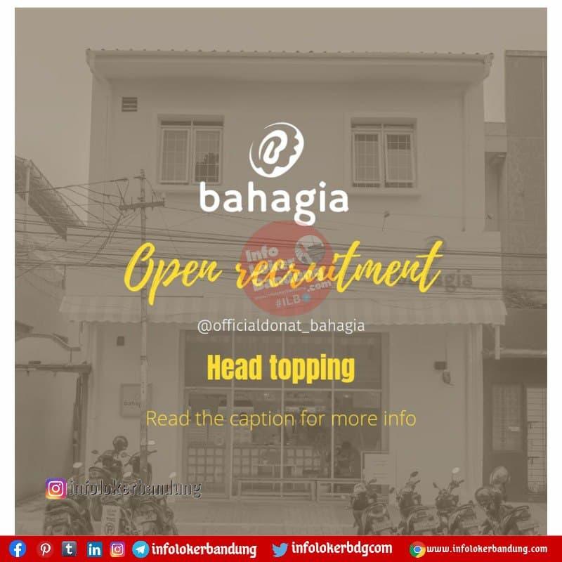 Lowongan Kerja Head Topping Donat Bahagia Bandung Juli 2021