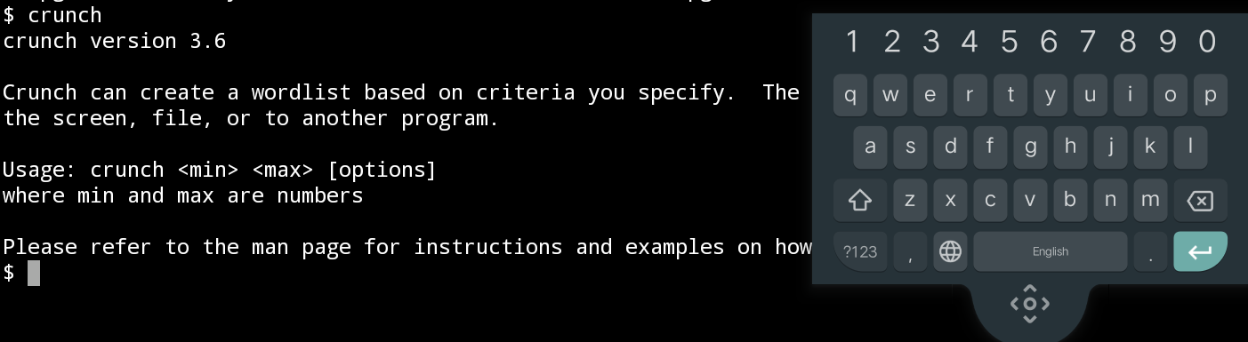 How to install crunch tool in termux