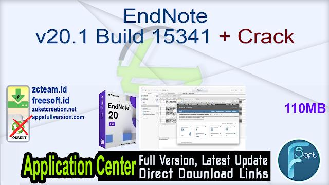 EndNote v20.1 Build 15341 + Crack_ ZcTeam.id