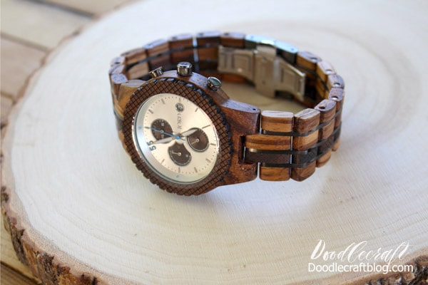 How to Adjust Wooden Watch Band Jord Conway mens automatic winding wood watch