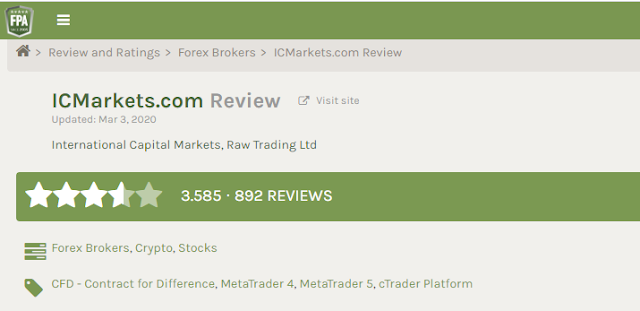 تقييم شركة IC Markets في موقع ForexPeaceArmy