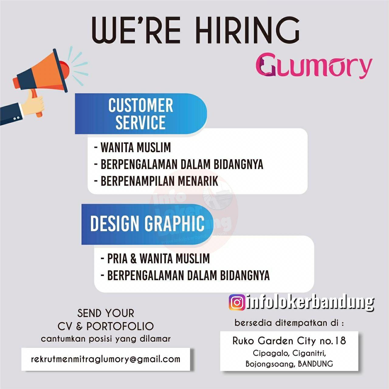 Lowongan Kerja Customer Service & Design Graphic Glumory Bandung Oktober 2019
