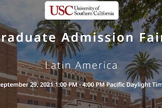 Se parte de la Feria Virtual de Postgrados en University of Southern California (USC)