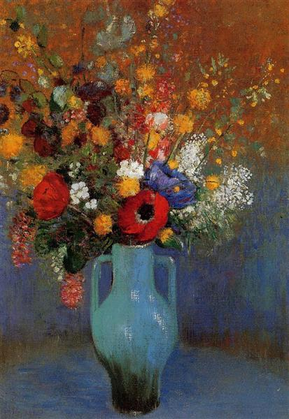 Style Imitating Art Inspiration:  Bouquet of Wild Flowers by Odilon Redin