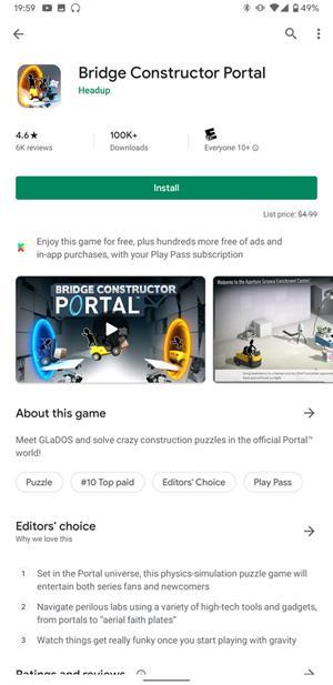 خدمة جوجل Play Pass