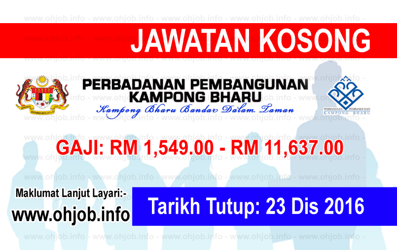 Jawatan Kerja Kosong Perbadanan Pembangunan Kampong Bharu (PPKB) logo www.ohjob.info disember 2016