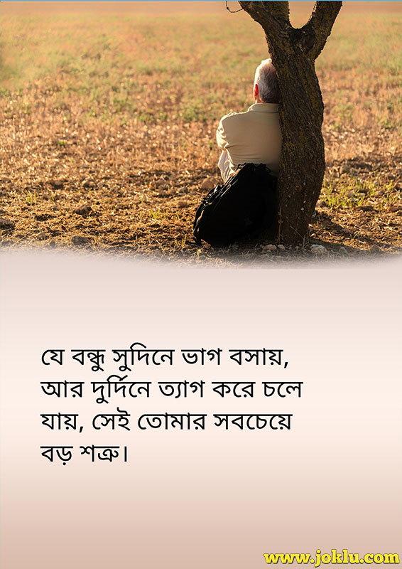 Fake friend friendship message in Bengali