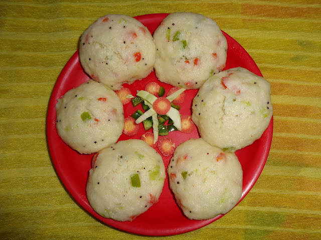 vegetable idli recipe.