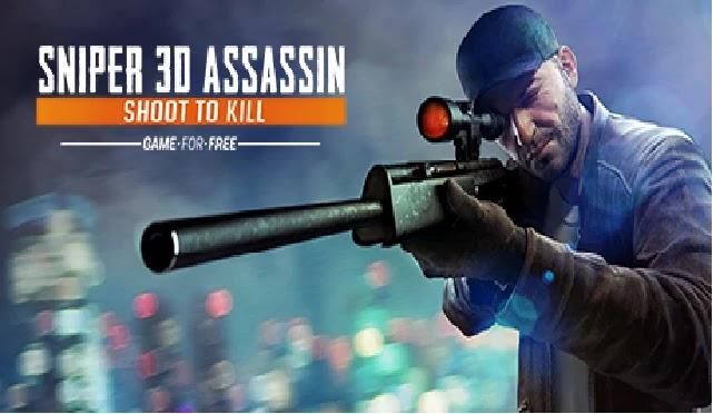 تزيل لعبة Sniper 3D Assassin افضل لعبة قنص mod apk