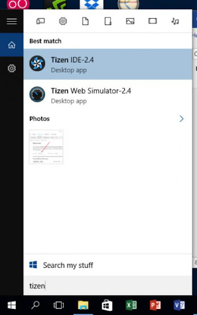 Tizen IDE Interface