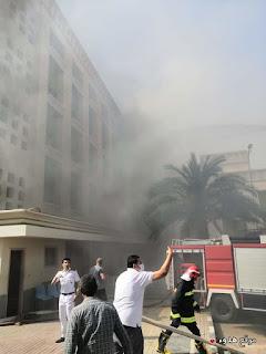 صور حريق مستشفي اكاديمية الشرطة صور الحريق
