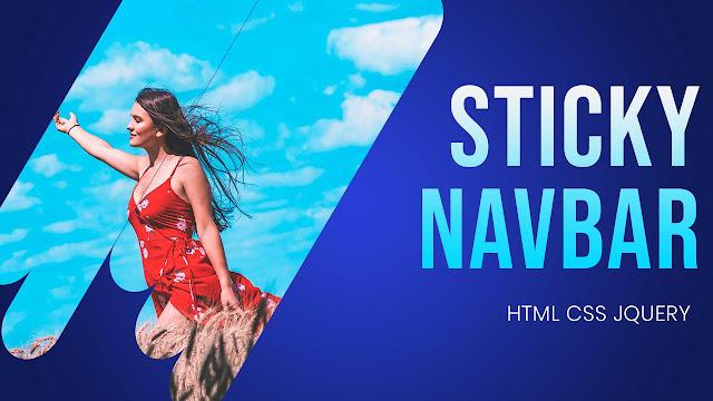 Sticky Navbar Hide on Scroll | sticky navbar tutorial