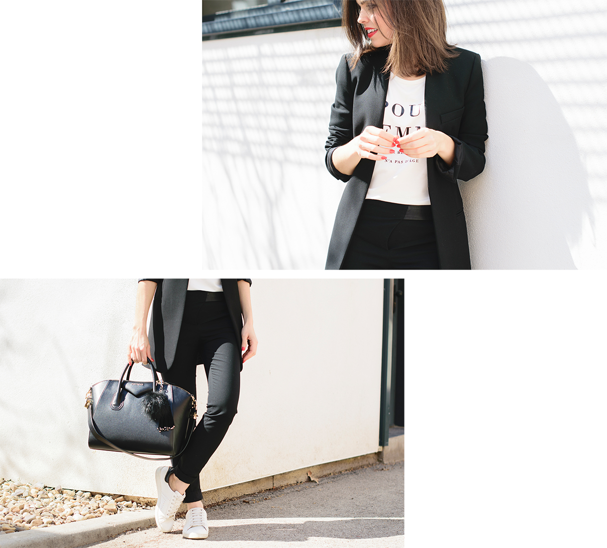 Look working con sneakers de Ponte unos tacones