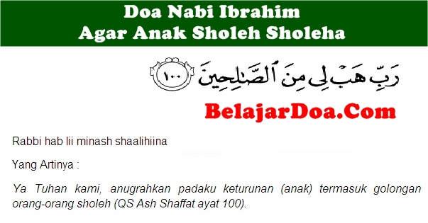 Lafal Bacaan Doa Nabi Ibrahim Untuk Mendapatkan Keturunan Anak Soleh Sholehah Sesuai Alquran