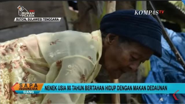 Miris! Nenek Asal Bondowoso Terpaksa Makan Daun karena tak Sanggup Beli Beras