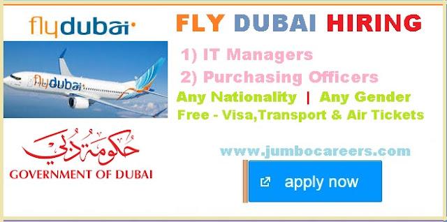 Fly Dubai jobs for Indians, how to get jobs in fly dubai, dubai government job