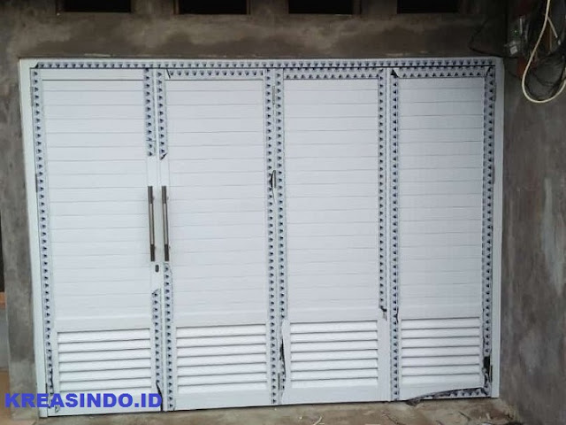 Jasa Pintu Garasi Aluminium Harga Per Meter Murah dan Model Modern