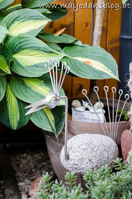 Gartendekoration Steinvogel