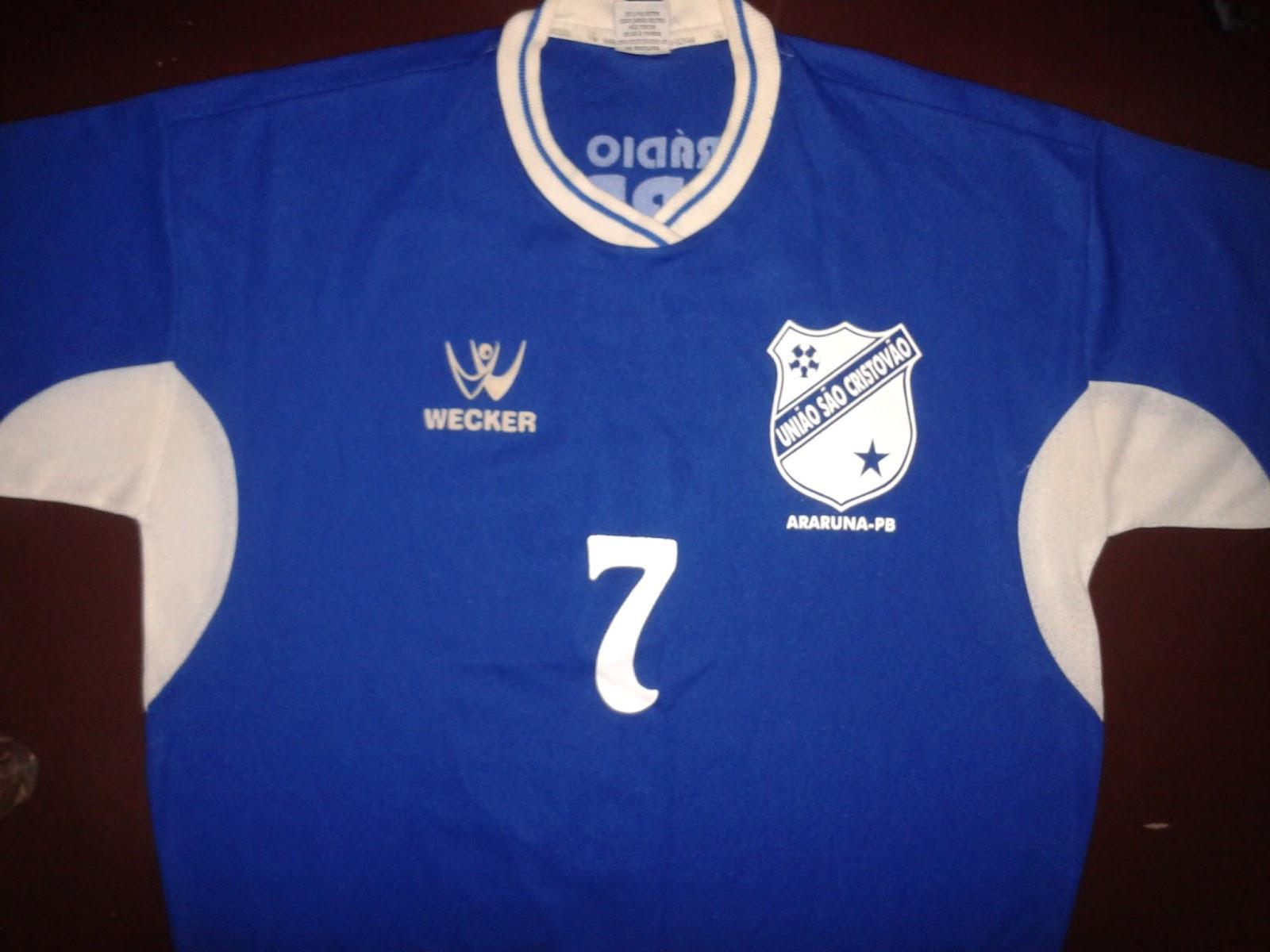 Camisa do União São Cristóvão CAMPEÃO da Copa Rural de Futsal 2002 1b8042273c888