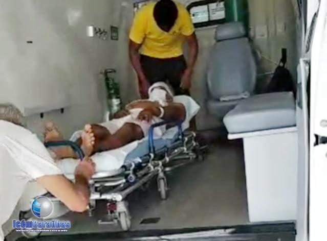 Homem que sofre grave acidente de moto na entrada da cidade de Caraúbas recebe alta medica