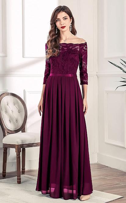 Best Quality Lace Chiffon Bridesmaid Dresses