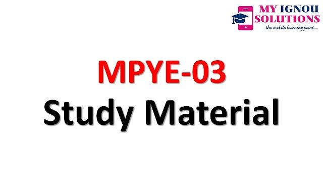 IGNOU MPYE-03    Study Material