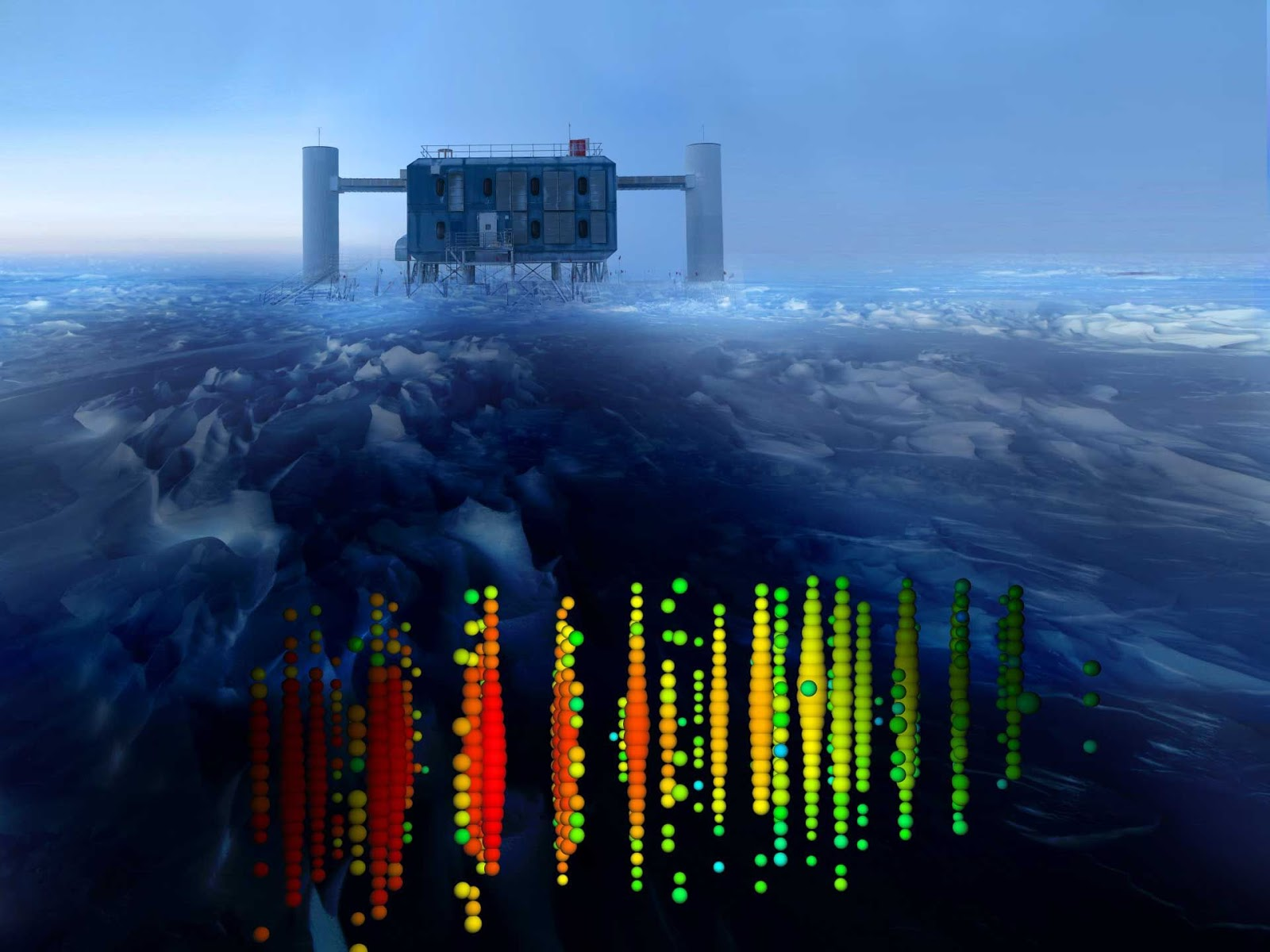Discovered by scientists neutrinos confirm the general ...Icecube Neutrino Observatory July