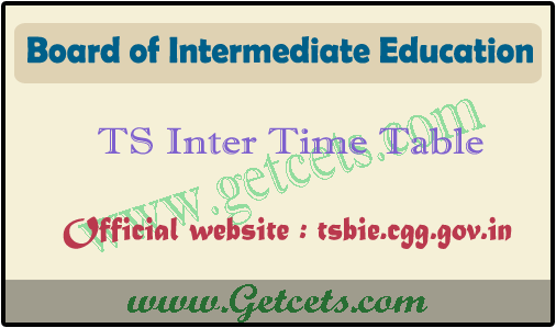 TS Inter time table 2021 pdf, ipe 1st & 2nd year exam dates