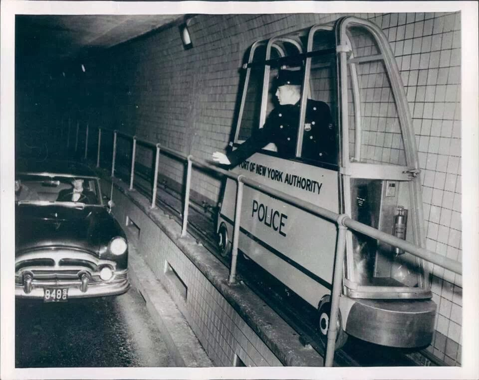 Police In Ny S Holland Tunnel 1954 Vintage Everyday
