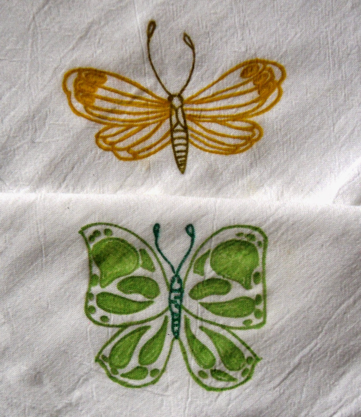 2 hand painted butterflies flour sack dish towels?ref=shop_home_active_17