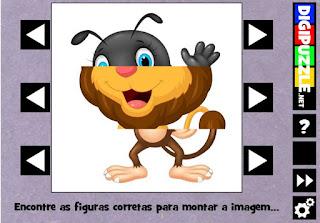 http://www.digipuzzle.net/kids/animalcartoons/puzzles/swaprows.htm?language=portuguese&linkback=../../../pt/jogoseducativos/infantil/index.htm