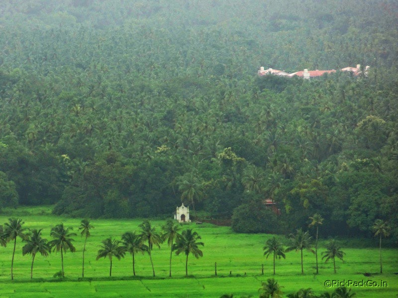 The lonely little chapel in the valley  Three Kings church Consolim - Goa Pick, Pack, Go